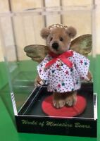 WORLD OF MINIATURE BEARS NATASHA ANGEL TINY BEAR  LTD EDITION IN DISPLAY CASE
