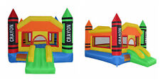 Bounce House Inflatable Castle Moonwalk Jump Bouncy Jumper Bouncer Slide Blower
