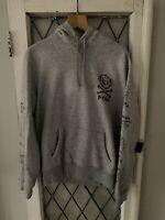 Vintage Polo Ralph Lauren Pullover Hoodie Sweatshirt Bleeker Grey Size L RARE