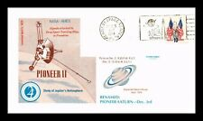DR JIM STAMPS US PIONEER II SPACE EVENT COVER NASA PICTORIAL CANCEL 1974