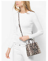 NWT MICHAEL KORS Bridgette Small Embossed Leather Messenger Crossbody $298