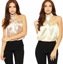Polyester Clubwear Tank, Cami Solid Tops & Blouses for Women