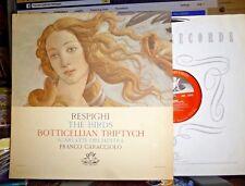 RESPIGHI Birds / Botticellian Triptych, FRANCO CARACCIOLO, Angel LP NM/EX Dowel