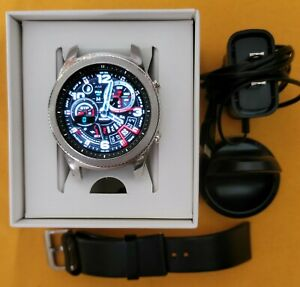 Samsung Galaxy Gear S3 Classic sm-r770 46 mm Stainless black leather smartwatch