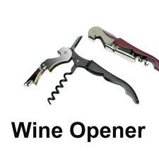 Wine Bottle Cap Opener Corkscrew Stainless Steel Metal With Plastic Handle