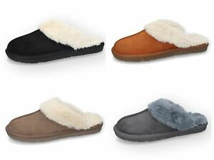 Dockers By Gerli Ladies House Shoe Slippers Padded Artificial Fur 49EB301