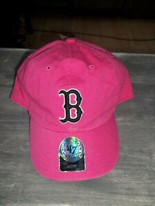 MLB Boston RED SOX Cap - Kids - '47 Brand - Strap - Darker Pink