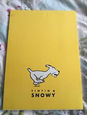 NEW Herge Tintin and Snowy LINED A4 NOTEBOOK paper stationery RARE