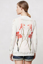 New Anthropologie by Guinevere Tousled Vines Cardigan Sweater Cashmere Blend S
