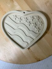 The Patriotic Heart US Flag Shortbread Mold by The Pampered Chef USA 2005