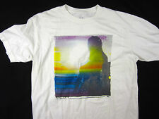 Quiksilver premium soft slim fit sunset t shirt men's white size LARGE