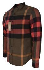 New Burberry Brit Men's $325 Colorblock Nova Check Cotton Long Sleeve Shirt