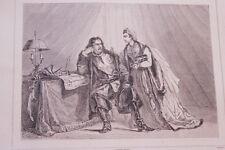 RUSSIE CATHERINE I PIERRE LE GRAND TURC GRAVURE SUR ACIER 1838 РОССИЯ PRINT