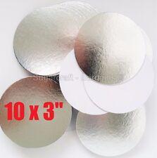 "10 x 3"" ROUND SILVER THIN CUT EDGE cake cupcake boards cards sugarcraft culpitt"