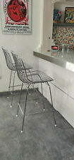 2x Wire Chair Design Barhocker Replika Harry Bertoia 428 Bar Chair Entwurf 60er