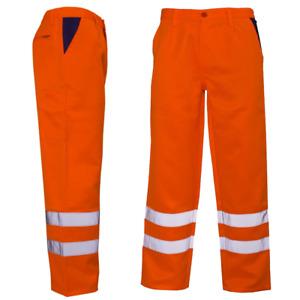 Hi Vis High Vis Safety Combat Cargo Pocket Work Trouser Pants Highways Road Rail