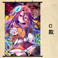 60*90cm NO GAME NO LIFE Game Poster Wall Scroll Home Decor Mural HD Print #MS26