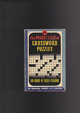 VINTAGE POCKET BOOK .POCKET OF CROSSWORD PUZZLES.FIRST PRINTING.NICE COPY!