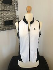 SUGOI Black & White Zip Front Multi Pocket Breathable Bicycle Top Women's LARGE