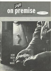 VINTAGE 1962 SCHLITZ BEER MAGAZINE! 'HOW BEER IS MADE'! BLACK & WHITE! 10MIL/DAY