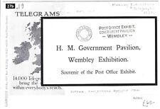 GB 1925 Wembley Card GOVERNMENT PAVILION Machine Slogan EMPIRE EXHIBITION 27.19