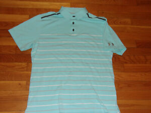 UNDER ARMOUR HEATGEAR LOOSE FIT SHORT SLEEVE POLO SHIRT MENS LARGE EXCELLENT