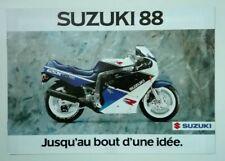 Prospectus Catalogue Brochure Moto Suzuki Gamme 1988