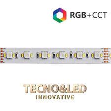 STRIP LED 300SMD5050+600SMD3014 RGB+CCT 135W IP20 24V LUCE CALDA FREDDA RGB