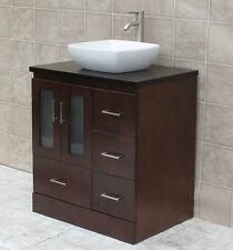 "30"" Bathroom Vanity 30-inch Cabine Wood Top With Ceramic Sink Sink &Faucet MO20"