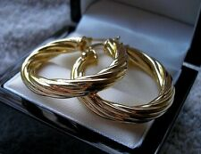 GENUINE 9CT GOLD GF HOOP EARRINGS SILLY PRICE ALMOST SOLD OUT ref 03
