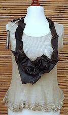 * Zuza Bart * Design Vera Pelle esclusivo Bel Abbellimento Collana * MARRONE *