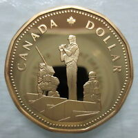 1995 CANADA PEACEKEEPING LOONIE PROOF DOLLAR COIN