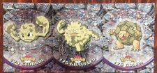 2000 TOPPS CHROME POKEMON GEODUDE GRAVELER GOLEM #74 #75 #76 CARD LOT