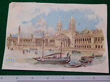 1870s-80s O N T Clarck's Spool Cotton World Fair Victorian Trade Card #P