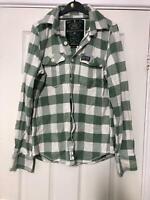 Superdry Green Shirt Size Medium Women Long Sleeve (H298)