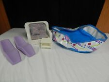 Vintage 1983 Barbie White Wicker Dream Furniture Lounge Chairs Swimming Pool lot