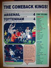 Arsenal 4 Tottenham Hotspur 4 - 2008 - souvenir print