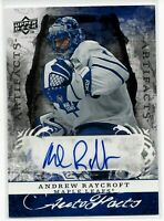 08-09 UD Artifacts Andrew Raycroft Toronto Maple Leafs Auto Facts Bruins SP NHL
