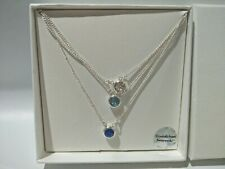 LOVISA Triple silver tone Swarovski crystal necklace pendant