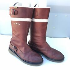 Dr Martens Doc US 10 Oxblood Cherry Motorcycle Red Tall Boot Women Steven AW004