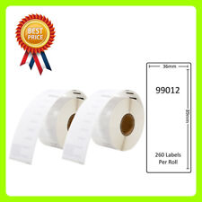 2 Rolls 99012 Labels Compatible for Dymo/Seiko 36 x 89mm 260 labels per roll
