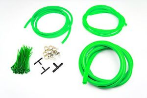 AUTOBAHN88 Engine Room Silicone Air Vacuum Hose Dress Up Kit GREEN Fit Nissan