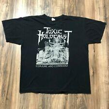 Vintage 2011 Toxic Holocaust Conjure & Command Rock Metal T-Shirt Sz XL