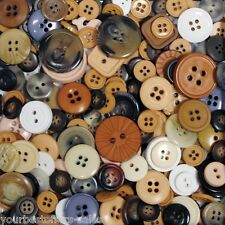 Assorted Buttons Lot Nylon Bag Of Buttons Brown Buttons Sewing Buttons Brand New