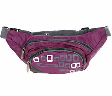 Purple Bum Bags, 3 Zip Compartments with Adjustable Strap.