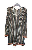 SOFT SURROUNDINGS Tunic Top Large Crochet Knit Dress Peasant Boho