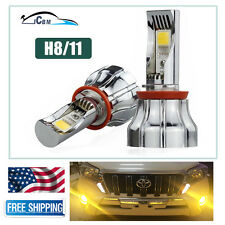 2PCS 30 Watts Korea Chips LED H11/H9/H8 Fog Light Kit Bulbs Golden Yellow 3000K