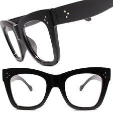 Hip Hop Vintage Retro Clear Lens Eye Glasses Thick Black Fashion Square Frame
