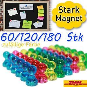 60-180 Stk Magnet-pins bunt Pinnwand Magnet-Kegel Stark Haftung Kühlschrank Büro