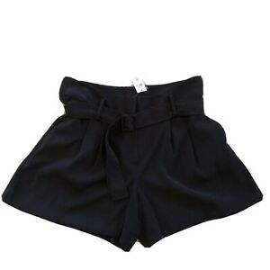 NWT ann Taylor Factory Womens Size 12 Black Belted Shorts